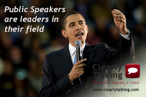 Public Speakers are leaders in their field (Public Speaking image)