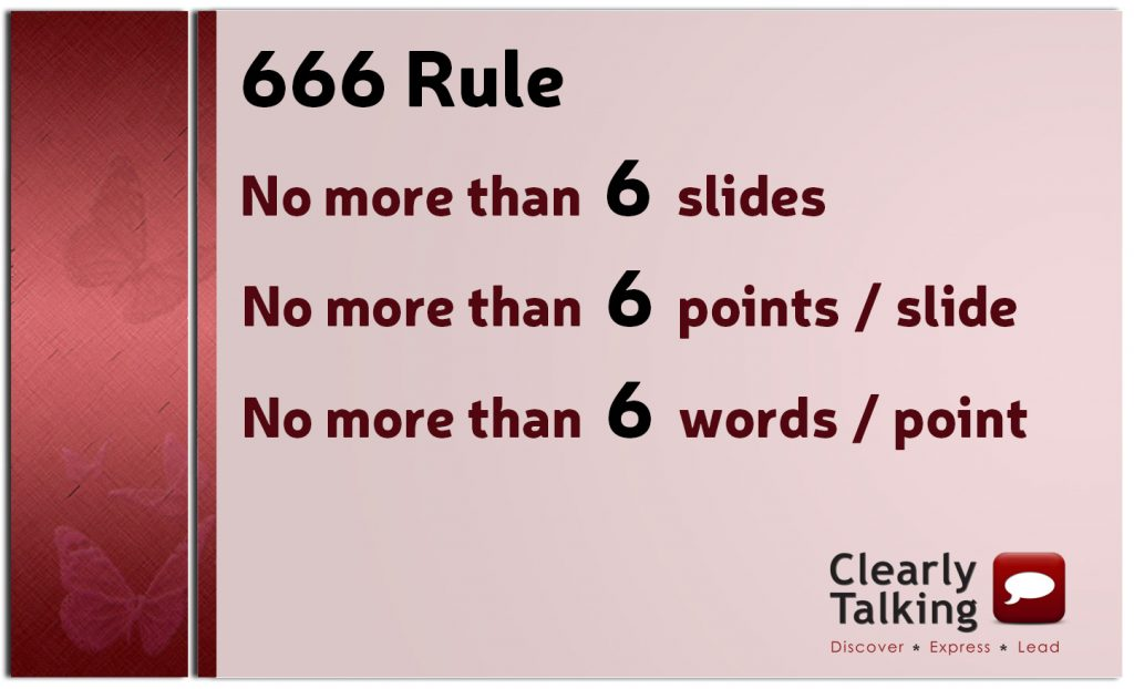 The 666 Rule for Presentation Slides