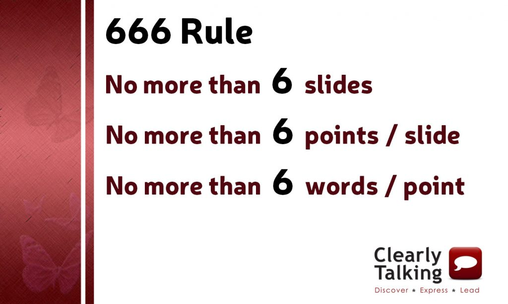666 Rule for PowerPoint Slides