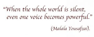 When the whole world is silent, even one voice becomes powerful