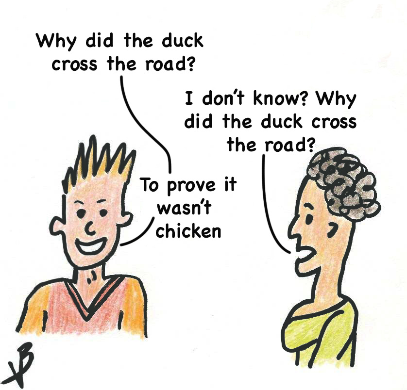 Make your presentations fun with this chicken crossing the road joke
